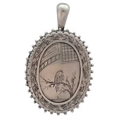 Victorian 1880 Aesthetic Period Sterling Silver Locket