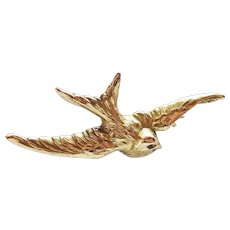 French FIX Gold Filled Swallow Pin