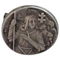 French Antique  Joan of Arc Silver Pin