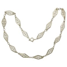 French Antique Silver Choker Necklace