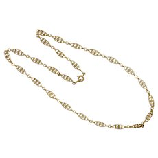 French 'FIX' Gold Filled Necklace - 17""