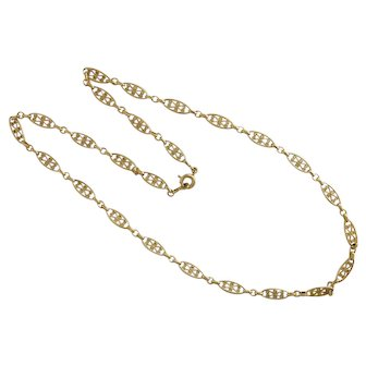 """French 'FIX' Gold Filled Necklace - 17"""""""