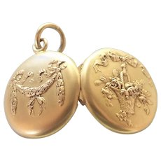 French Circa 1900-1910 Gold Filled or Plated Locket