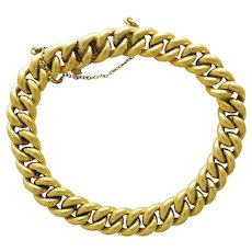 French Gold Filled Curb Bracelet - MURAT