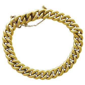 French Gold Filled Curb Bracelet - MURAT