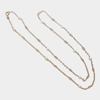 French Gold Filled and Pearl Necklace - ORIA