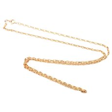 "Long 9K Gold Chain Necklace - 29½"" - 14.9 grams"