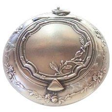 French Circa 1900 Silver Compact Box Pendant