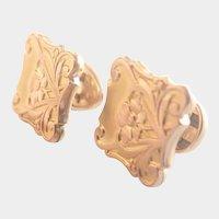 French Art Nouveau Gold Filled Cufflinks  - TITRE FIXE