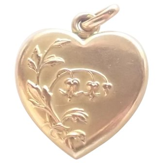 French 'FIX' Bleeding Hearts Heart Pendant