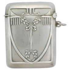 Austro-Hungarian Silver Jugendstil Vesta Case