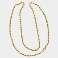 "Italian 9K Gold Rope Chain Necklace - 20"" -4.8 grams"
