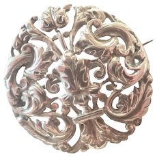 Victorian Renaissance Style Sterling Silver Pin