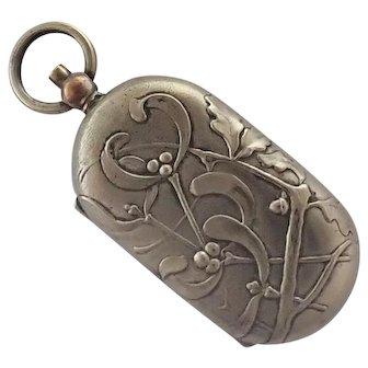 French Art Nouveau Mistletoe Coin Holder