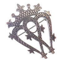 Scottish Sterling Luckenbooth Pin - John Hart - Iona