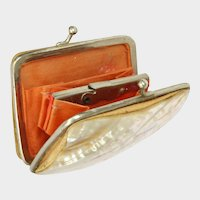 French Mother Of Pearl Coin Purse