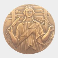 French Art Deco Bronze Medal - E FRAISSE