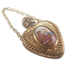 French Limoges Gilt Metal Perfume Pendant