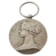 French Antique Silver Medal/Pendant Marianne - O ROTY