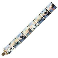 Norwegian Silver Enamel Scenic Bracelet - IVAR T HOLTHE