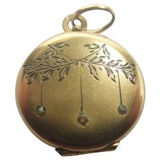 French Antique Gold Filled 'FIXE' Locket