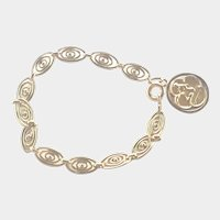 French Gold Filled Bracelet with Angel Medallion