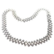 Victorian Sterling Silver Collar with Loop for Pendant