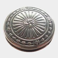 French Antique Silver Snuff or Pill Box