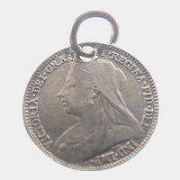 Victorian Silver Love Token Coin - ARTHUR