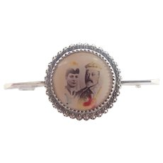 CHARLES HORNER - Edward V11 and Queen 1901 Silver Pin