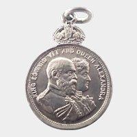 English Silver Edward V11 Coronation Medal
