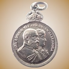 English Silver Edward V11 Coronation Medal