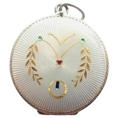 Art Nouveau German Jugendstil 800 Silver Locket Pendant