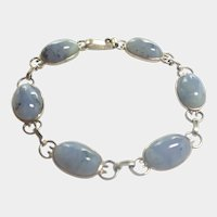 Art Deco Silver and Agates Bracelet - English or Scottish