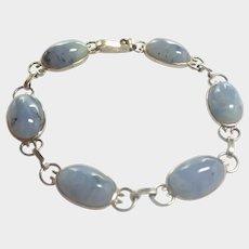 Art Deco Silver and Agates Bracelet - English or Scottish
