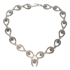 Danish N E FROM Silver Lucky Horseshoe Necklace - Rare!