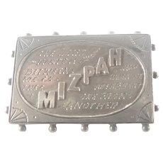 Victorian Sterling Silver MIZPAH pin