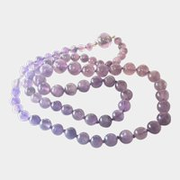 Victorian Genuine Amethyst Bead Opera Length Necjklace