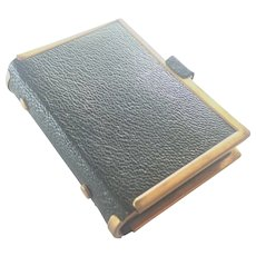 French Victorian 1868 Diary Brass Bound Leather
