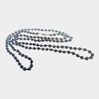 Art Deco French Jet Extra Long Necklace -51""