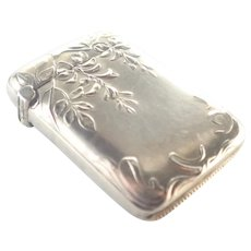 French Art Nouveau Silver Vesta Match Safe