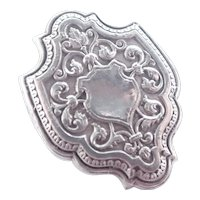 French Antique Silver 'Toujours Fidele' Pin