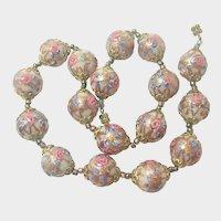 Italian Murano Glass 'Wedding Cake' Necklace