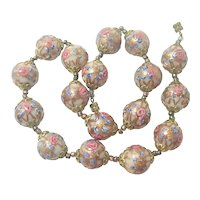 Italian Murano Glass 'Wedding Cake' Necklace