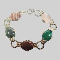 Scottish Sterling Silver Agates Bracelet