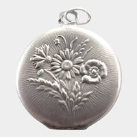 French Antique Silver Posy Locket