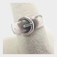 Victorian 1881 Sterling Silver Buckle Ring