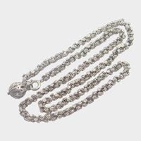 Victorian Decorative Chain Necklace with Ball Clasp