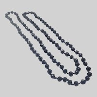 French Jet Opera Length Bead Necklace