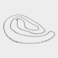 """French Antique Silver Chain Necklace - 39½"""" - 18.2 grams"""